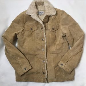 Wilson's Leather Maxima Suede Fur Button Jacket